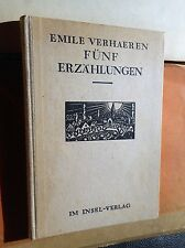 Emile Verhaeren: cinco cuentos (ilustrado Frans Masereel) ohln. 1921 isla