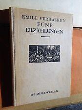Emile Verhaeren: Fünf Erzählungen (illustriert Frans Masereel) OHln. 1921 Insel