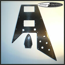Gibson Flying V 67' Reissue Kit Pickguard Truss Rod Cover  REAL Carbon Fiber