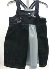 Ikks- ROBE bretelles jean bleu  et bleu clair rayé bébé 6 mois