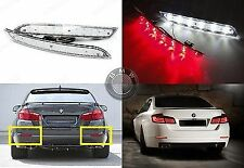 2x CLEAR Lens LED Rear Bumper Reflector Backup Tail Brake Light For BMW 5-Series