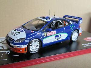 2421 4/12ft IXO Peugeot 307 WRC 7 Rally Mounted Carlo 2006 Stohl 1:43 +Box