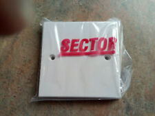 Job Lot of 60x Sector S904 1gang Blanking Plate White Face