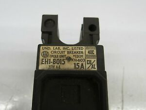 ITE EH1-B015 SINGLE POLE 15A CIRCUIT BREAKERS 120/240 VOLT