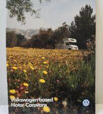 Volkswagen VW Based Motor Caravans Brochure Type 4 Late 1990's Campers
