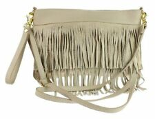 Unbranded Zip Suede Outer Handbags with Inner Pockets