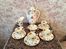 VINTAGE  CREAM AND ROSES ROYAL DOULTON COFFEE SET CIRCA 1932 ART DECO PERIOD