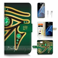 ( For Samsung S7 ) Wallet Case Cover P1560 Eye of Horus