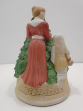 """Vintage Made In Tawian Roc Christmas Tree Ceramic Music Box """"Oh Christmas Tree"""""""