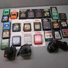 Atari System Game Cartridges Lot of 25 plus Controllers