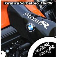 GRAFICA CARENA ADESIVO SERBATOIO BMW F800R F800 R CARENE STICKERS BIANCO ADESIVI
