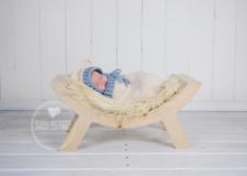 Newborn Baby Boy  Photography Props Outfits Teddy Bear Sac & Hat Blue Cream