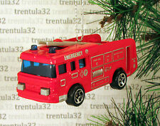 FIRE ENGINE LADDER TRUCK EMERGENCY RED CHRISTMAS TREE ORNAMENT XMAS