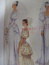 Vintage McCalls 3534 WEDDING DRESS w/ BUSTLE IN BACK Sewing Pattern Women