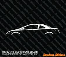 2X Car silhouette stickers - for Honda Civic coupe, 8th generation FG 2006-2011