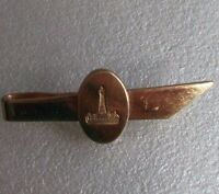 Vintage Tie Clasp Clip MENS Tack Pin 1970s TOWER