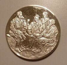 Sterling Silver Medal Franklin Mint Louvre Series Peasants Supper Le Nain 1645