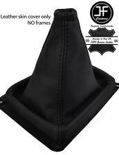 Negro y Negro de cuero de grano superior MANUAL GEAR GAITER encaja Kia Sorento MK1 02-09
