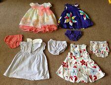 12pc. TODDLER GIRLS DRESSES & COATS (TOMMY HILFIGER,CARTER'S,etc..) Sizes 6-12M