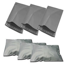 "100 BAGS - 10"" x 14"" STRONG POLY MAILING POSTAGE POSTAL QUALITY SELF SEAL GREY"