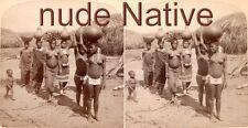18 Nude Native Afrika - Stereofotos um 1900 Serie 1