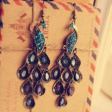 NiX 1385-1 Peacock Earrings Vintage Drop Earring Dangler Earring Women Gift Girl