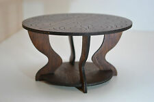 wooden coffee Table for dolls 1:6 furniture FR Barbie Momoko