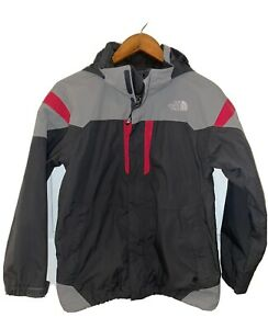The North Face Boy's HyVent Windbreaker Hooded Shell Grey Size L (14-16)