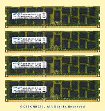 Samsung Server RAM 16G 4x 4GB PC3-10600R ECC REG DDR3 1333 2Rx4 RDIMM Memory LOT
