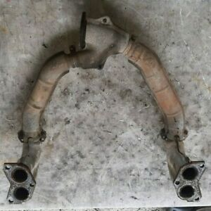 01-02 Subaru Forester Exhaust Manifold Crossover Pipe Collector w Heat Shields