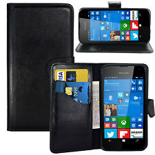 BLACK WALLET CARD SLOT stand GEL CASE FOR Microsoft NOKIA lumia UK free dispatch