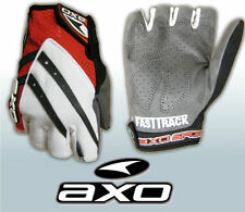 AXO Fastrack Fingerless Gloves Cycling MTB  Size 10 Large   White/Red/Black