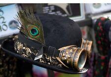 Steampunk Bowler Hat Goggles  Dieselpunk Gothic Cyber Retro Cosplay feeanddave