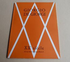 LIVRE D'ART OUVRAGE GALERIE XXè  GIORDIO DE GIORGI SCULPTURES PIERRE GUEGUEN