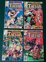 "1977 Marvel Comics ""TARZAN Lord of the Jungle"" No.1-4 Preowned"