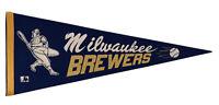 Vtg early 1970's Milwaukee Brewers Beer BARRELMAN Felt Baseball Pennant
