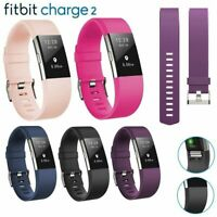 For FitBit Charge 2 Replacement Strap Sports Soft Bracelet Watch Wristband Band