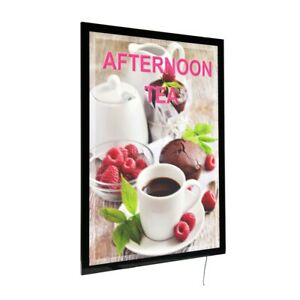 A1 A2 A3 A4 LED black light up box wall mounted hanging poster display frame