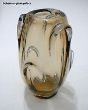 Art Glass RARE Vase by JAN BROZ for BERANEK SKRDLOVICE 1960s Czechoslovakia
