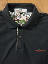 Tommy Bahama Men's Black Polo Shirt - XXL size Short Sleeve 2XL