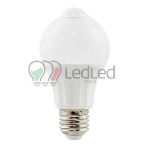 Lampadina Led con Sensore di movimento A60 E27 6W  Bianco Caldo 3000K