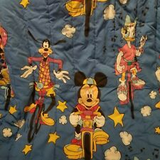 Vintage Mickey Mouse Comforter Minnie Goofy Bike Twin Disney Bedding Set