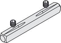 Häfele Drückerstift Vierkantstift Drücker-Vierkant 8 mm Stahl mit Rillen H10261