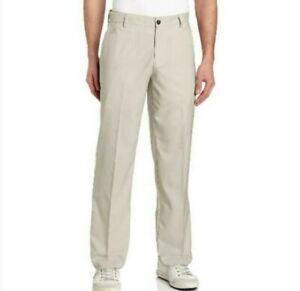 Adidas Mens NEW ClimaLite Golf Pants 32x32 Lt Khaki Tan Trousers