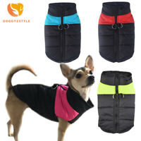 Warm Small Dog Clothes Waterproof Pet Cat Coat Jacket Winter Vest Spring Apparel