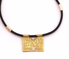 God Blessing Silver&Gold Pendant Necklace Israel Bible Jewish Prayer Judaica Art