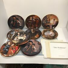 Lot Of 9 Vintage Norman Rockwell Knowles Collectible Plates Coa