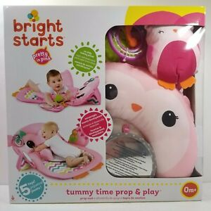 BRIGHT STARTS TUMMY TIME PROP & PLAY ACTIVITY MAT, OWL - SEALED NEW