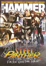 STEEL PANTHER SIGNED METAL HAMMER MAGAZINE RARE! MICHAEL STARR LEXXI FOXX