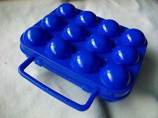 Plastic One Dozen Egg Holder Dark Blue Holds 12 Eggs Camping Dishwasher Safe